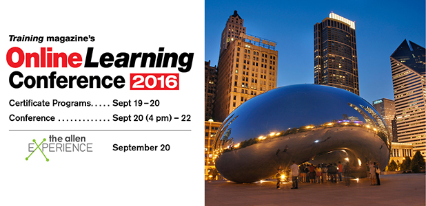 2016 Online Learning Conference: Where Training Meets Technology