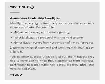 From Individual Contributor to Leader