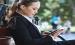 Lady Learning on iPad