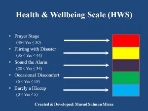 Health and Wellbeing Scale- Training Mag